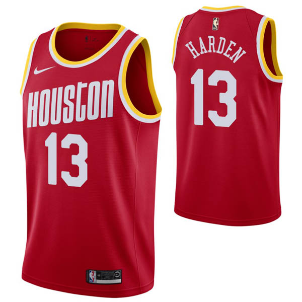 Camiseta James Harden baratas del #13 rojo Hardwood Classics para Houston Rockets