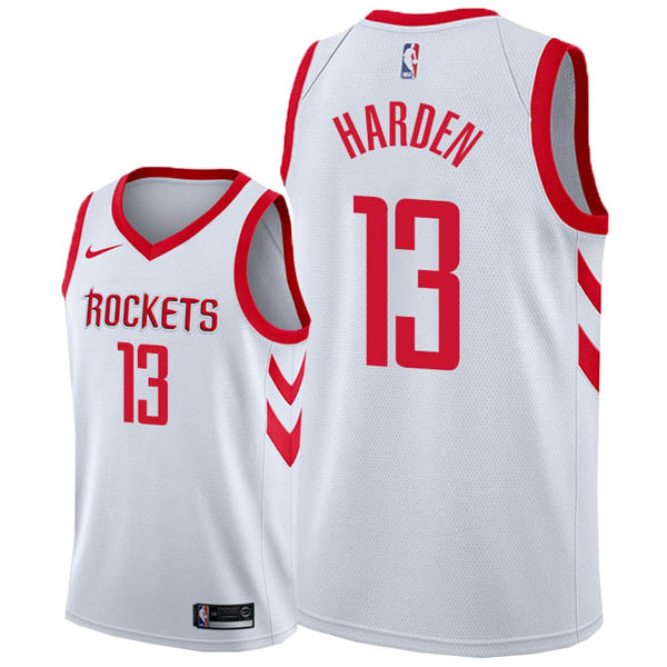 Camiseta James Harden baratas del #13 blanco para Houston Rockets