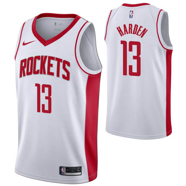 Camiseta James Harden baratas del #13 Association blanco para Houston Rockets