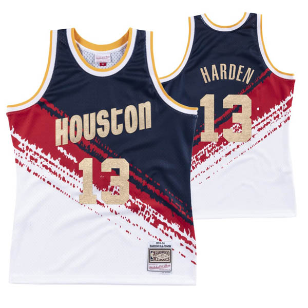 Camiseta James Harden baratas del #13 blanco Independence Throwback para Houston Rockets