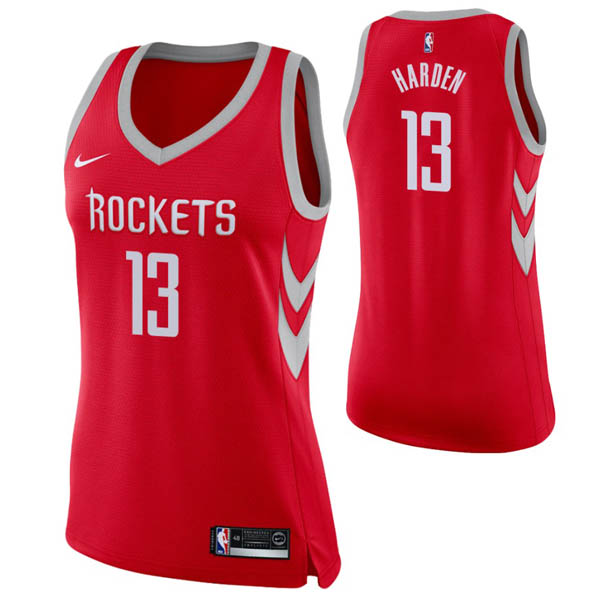 Camiseta James Harden baratas del #13 rojo mujer para Houston Rockets