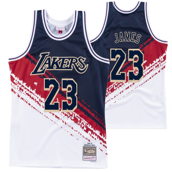 Camiseta Lebron James baratas de #23 Independence Throwback para Los Angeles Lakers