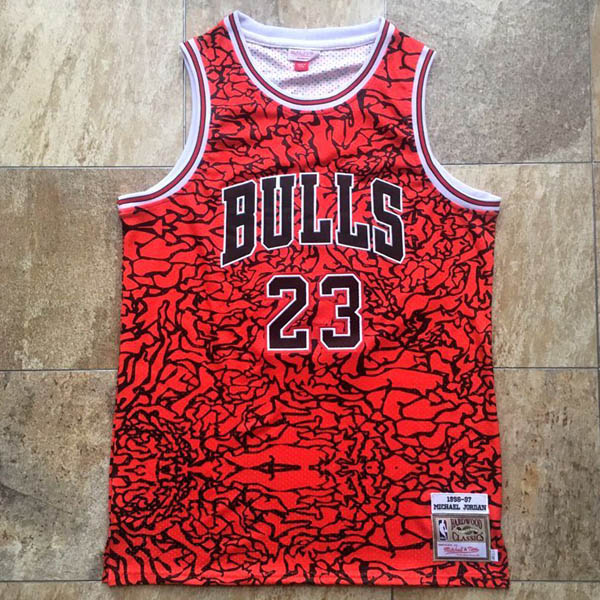 Camiseta Michael Jordan baratas del #23 rojo Mitchell&Ness version para Chicago Bulls