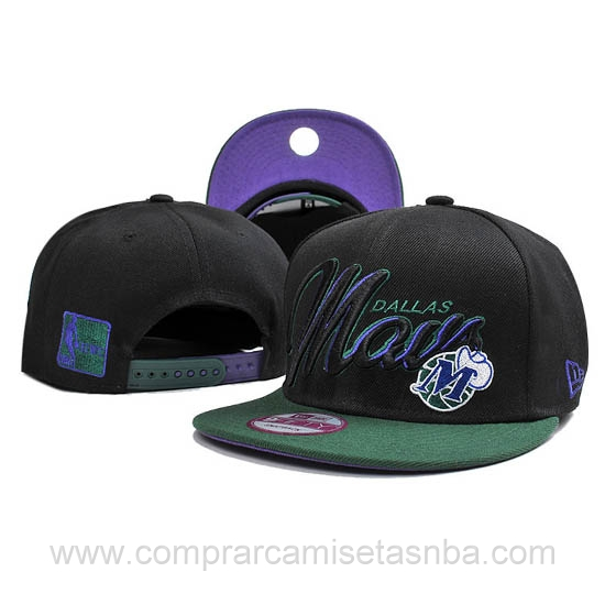 Gorras Dallas Mavericks baratas negro DM03H hombre