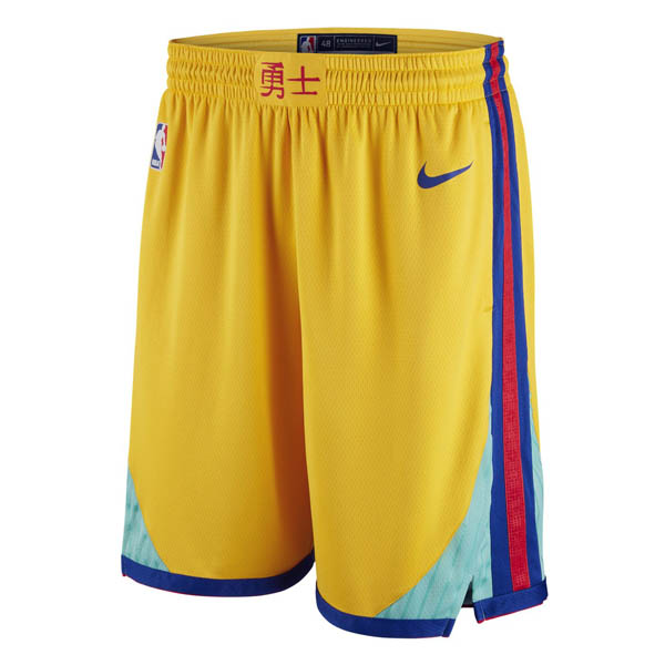 Pantalones Golden state Warriors baratas de nike Año chino Amarillo
