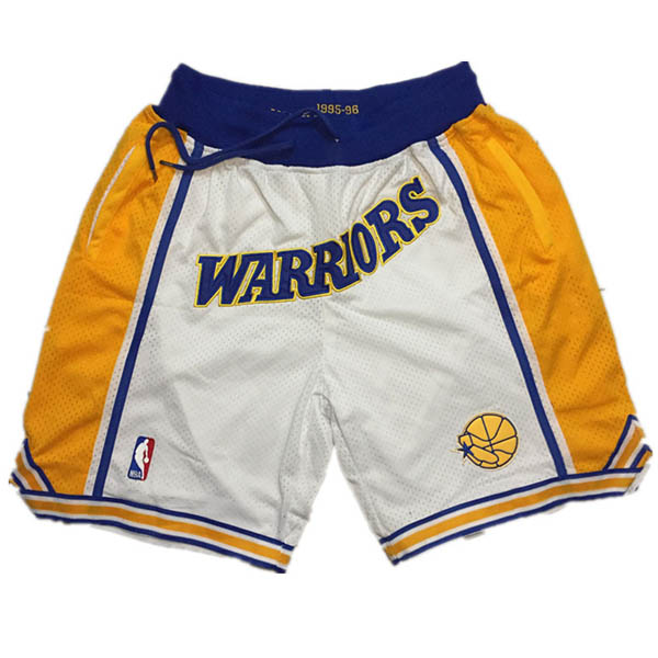 Pantalones Golden state Warriors baratas nba retro blanco del Just Don