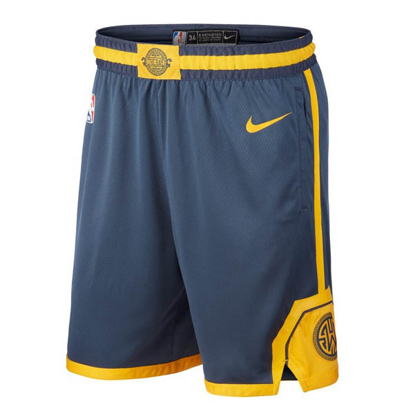 Pantalones Golden state Warriors baratas de nike City Azul oscuro