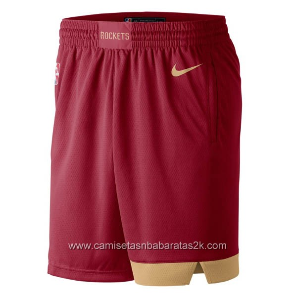Pantalones nba baratas de nike City rojo para Houston Rockets