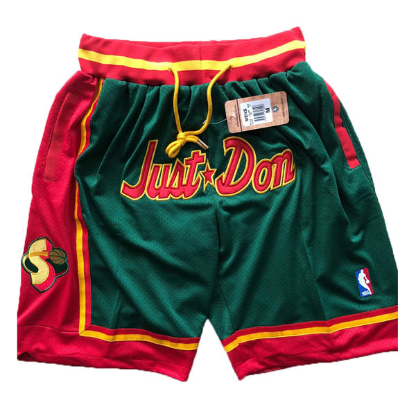 Pantalones Seattle SuperSonics baratas del Retro verde Just Don