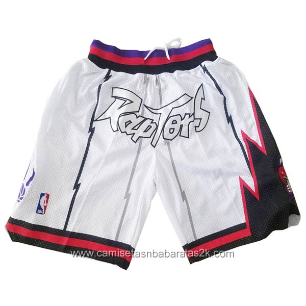 Pantalones nba baratas de Just Don blanco para Toronto Raptors 1998-99