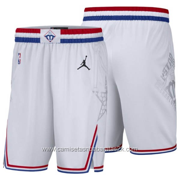 Pantalones baloncesto nba baratas blanco 2019 All-Star