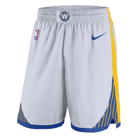 Pantalones baloncesto nba blanco Golden state Warriors 2018