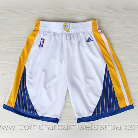 Pantalones baloncesto nba blanco Golden state Warriors