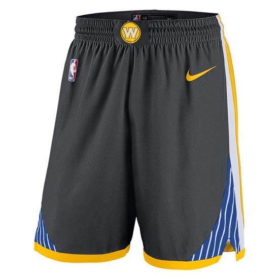 Pantalones baloncesto nba negro Golden state Warriors 2018