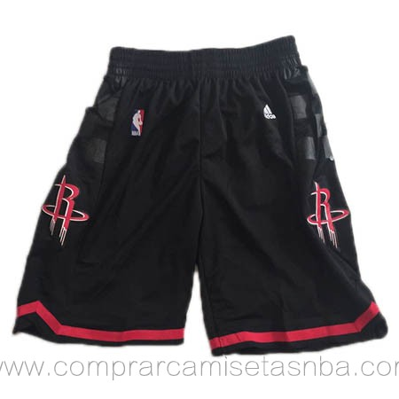 Pantalones baloncesto nba negro Houston Rockets