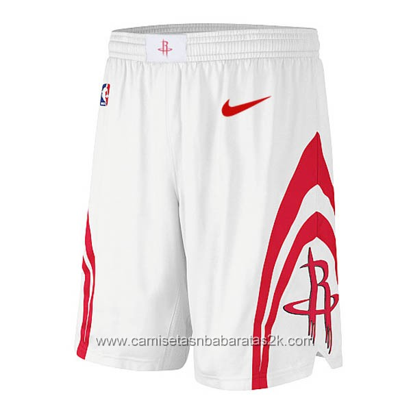 Pantalones baloncesto nba de nike blanco Houston Rockets
