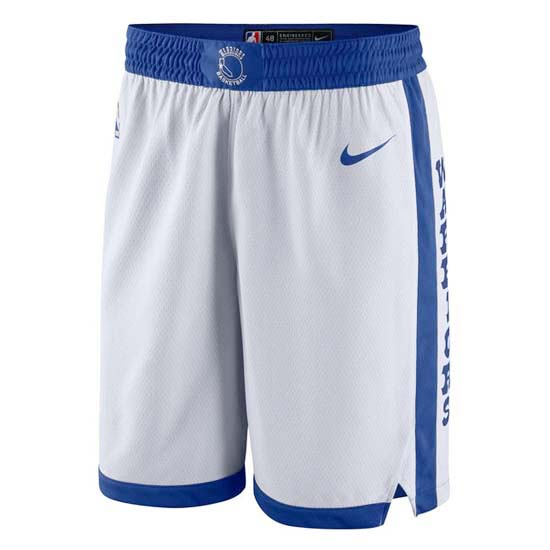 Pantalones baloncesto nba retro blanco Golden state Warriors 2018