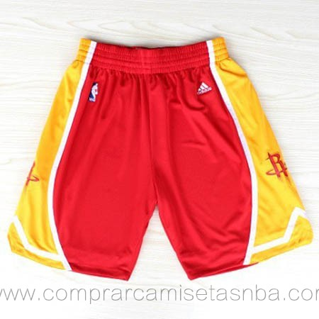 Pantalones baloncesto nba rojo amarillo Houston Rockets