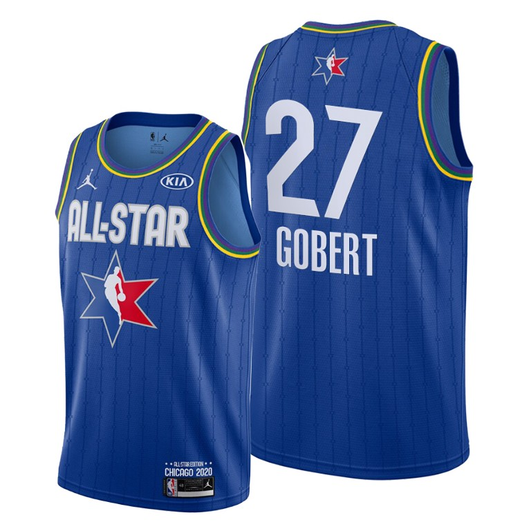 Camisetas NBA baratas Azul #27 Rudy Gobert para 2020 All-Star