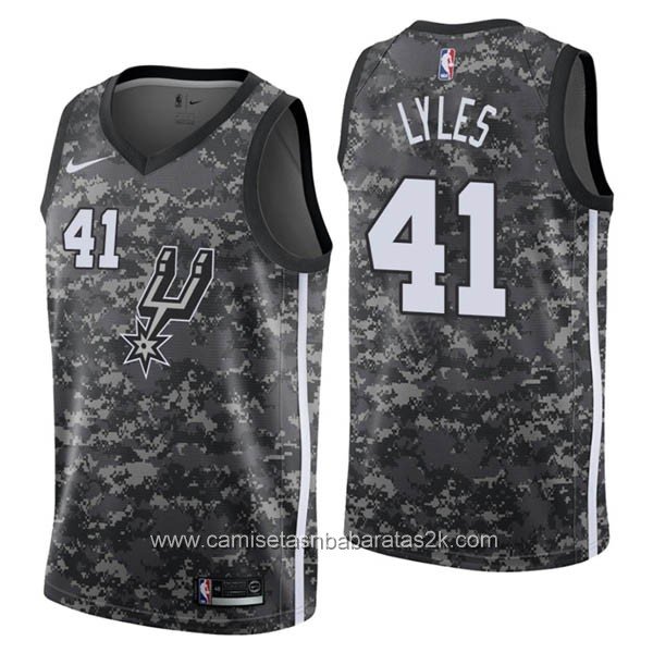 Camisetas nba baratas del city #41 Trey Lyles de San Antonio Spurs 2019