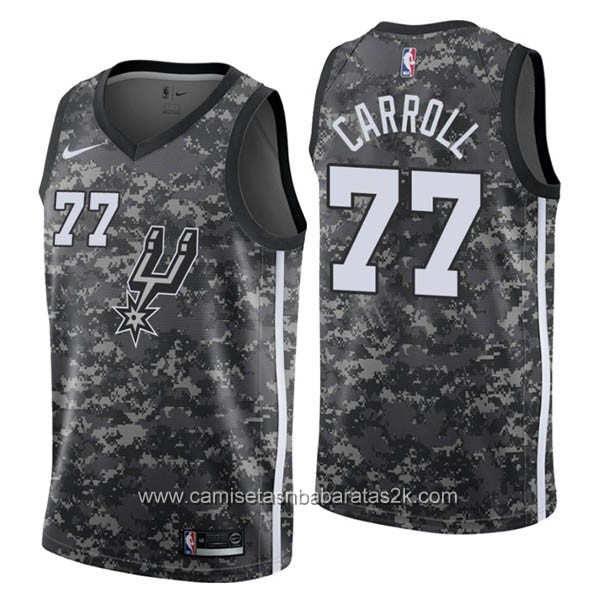 Camisetas nba baratas del City #77 DeMarre Carroll de San Antonio Spurs 2019