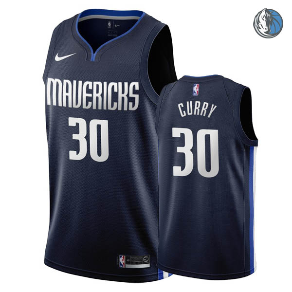 Camisetas nba baratas de Azul oscuro #30 Seth Curry de Dallas Mavericks 2019-20