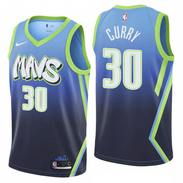 Camiseta Seth Curry baratas de City Edition #30 para Dallas Mavericks 2019-20