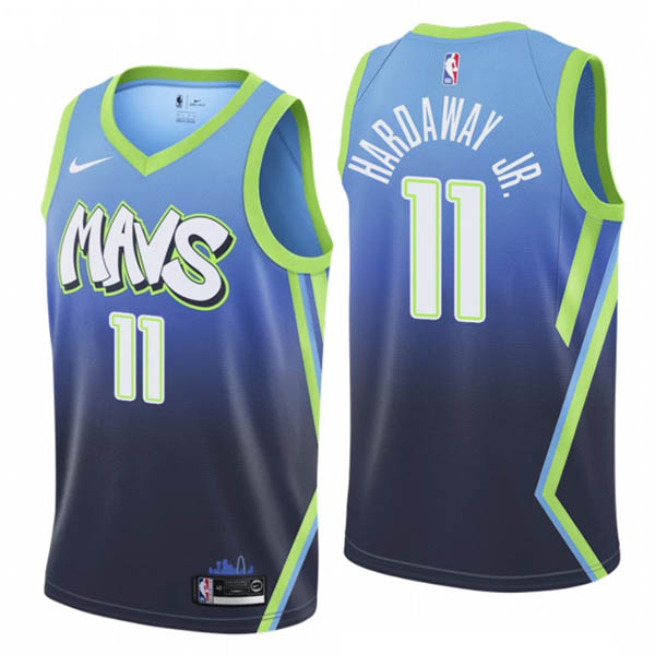 Camiseta Tim Hardaway Jr. baratas de City Edition #11 para Dallas Mavericks 2019-20